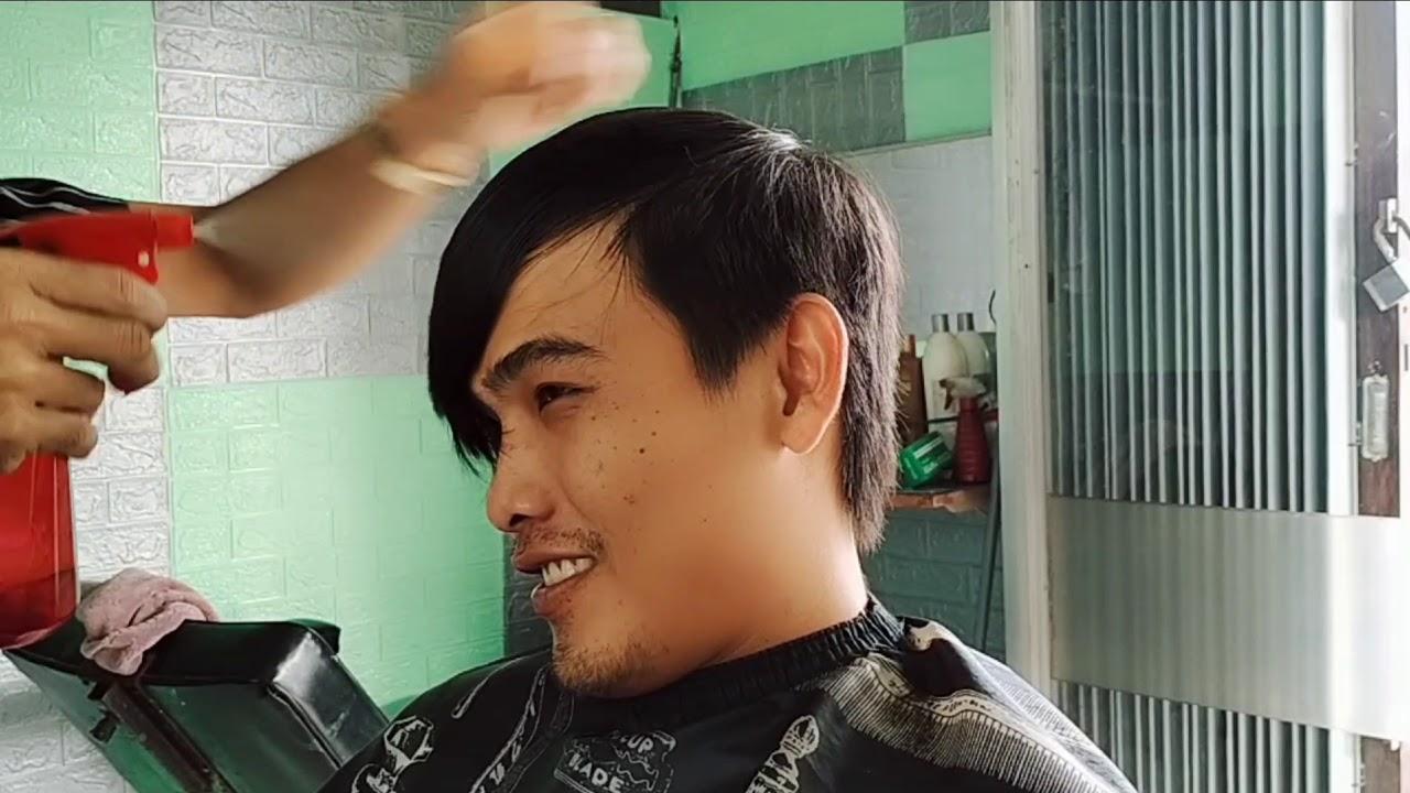 """Mẫu tóc""""""""  sole """"""""  mái xéo tự nhiên   Tóm tắt những nội dung nói về cách cắt tóc mái xéo nam chính xác nhất"""