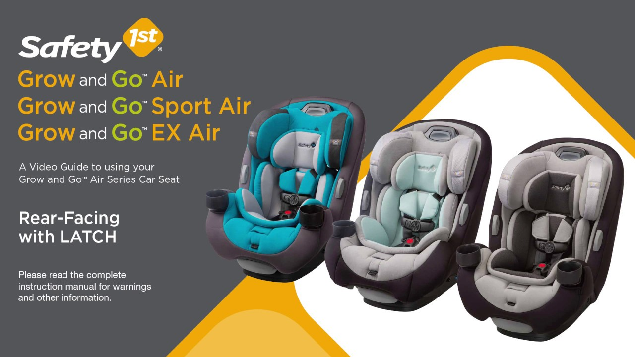 Safety 1st Grow and Go Air™ Series 3-in-1 Convertible Car Seat Rear ...