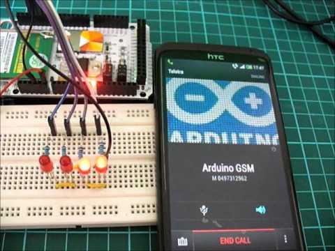 Arduino Mega GSM Shield Remote Control via Call