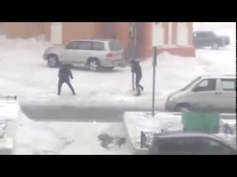 En Norilsk la gente se vuela por el viento
