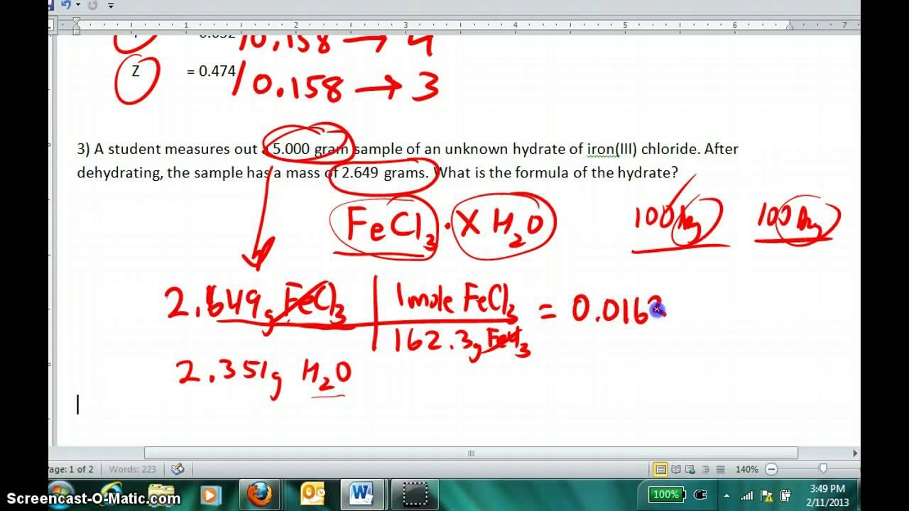 simplest formula  Determining Empirical (simplest) Formulas