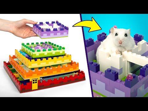 Un laberinto de lego de 5 niveles para tu hmste!