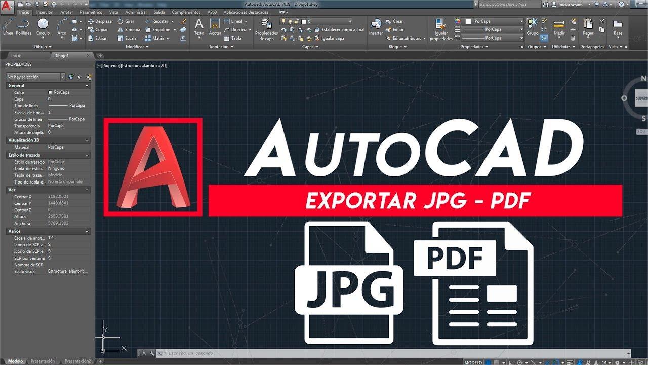 Como exportar de Autocad   JPG, PNG   Exportar PDF - YouTube