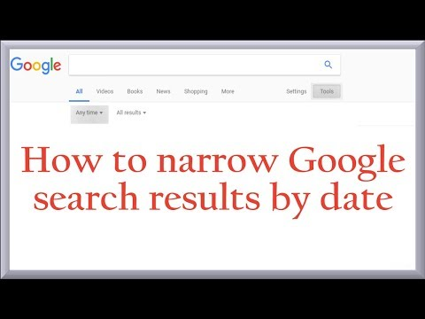 How To Narrow Google Search Results By Date - YouTube