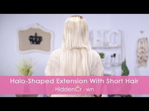 Halo Shaped Extension with Short Hair