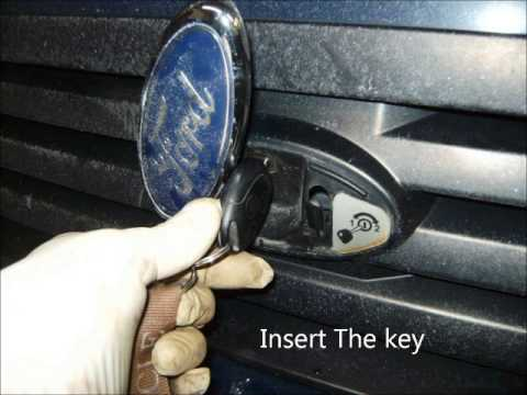 How To Open The Hood Of A 2010 Ford Transit Van Youtube