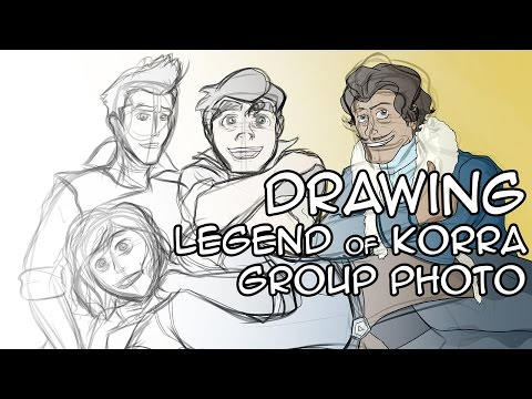 Drawing Legend of Korra Group Photo