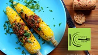 Grilled Corn On The Cob With Chipotle Cilantro Compound Butter (stevescooking)