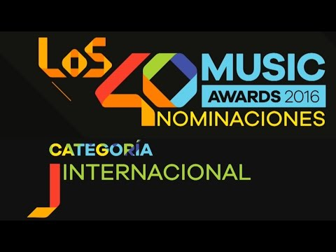 LOS40 Music Awards, nominados Internacionales