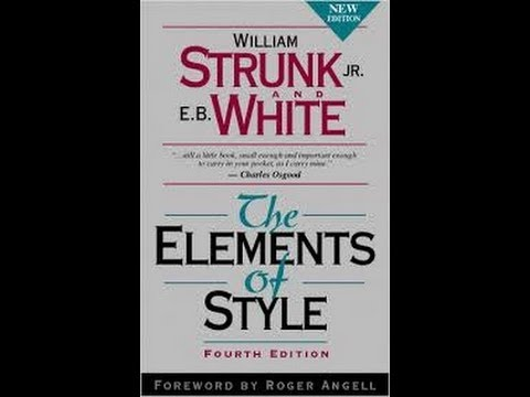 strunk and whites elements of style