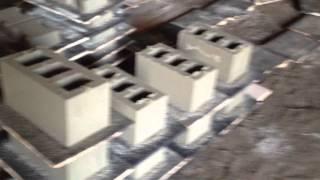Вибропресс ВП-600 прессуем стеновые блоки