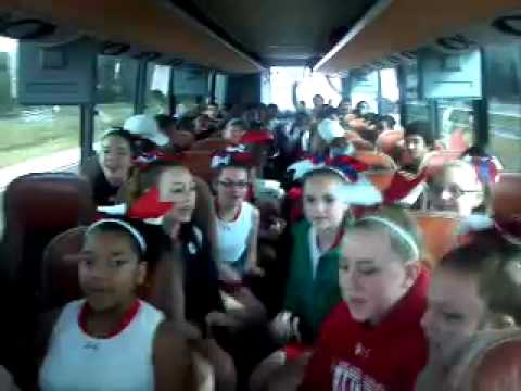 Under Armour Cheer on the bus.
