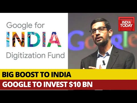 Sundar Pichai Announces Google s Plan To Invest $10 Billion In India from YouTube · Duration:  3 minutes 20 seconds