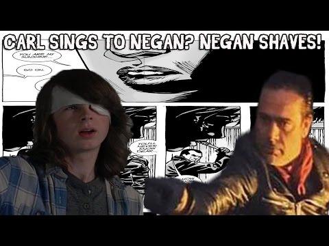 NEGAN SHAVES AND CARL SINGS TO NEGAN? - WALKING DEAD SEASON 7 EPISODE 7 & 8 SPOILERS