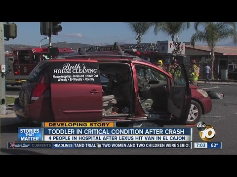 Toddler in critical condition after crash in El Cajon