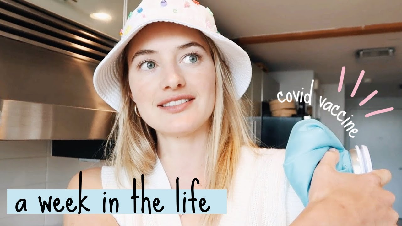 A week in my life // Getting my Covid Vaccine, making Vegan Dessert & Workout Event