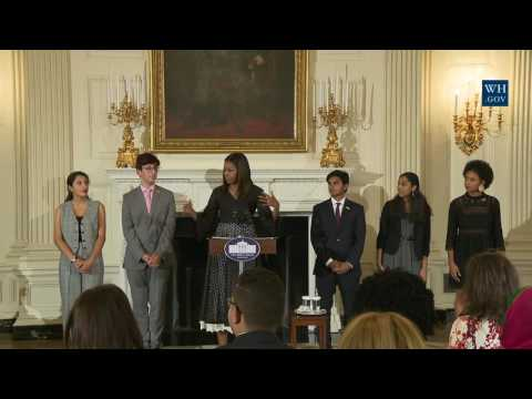 First Lady Michelle Obama Honors the 2016 Class of the National Student Poets Program
