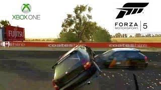 Forza Motorsport 5 Epic Honda Civic Crash! - Xbox ONE (SkyDrive Upload - Game DVR)
