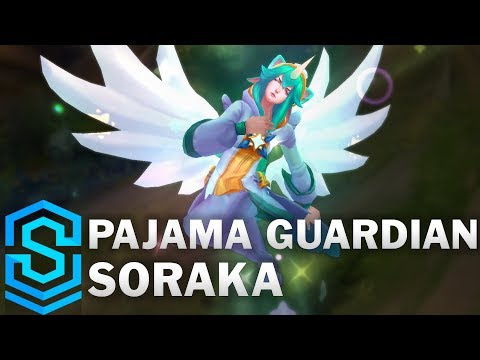Pajama Guardian Soraka Skin Spotlight - Pre-Release - League of Legends