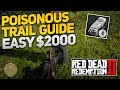 Red Dead Redemption 2: Poisonous Trail Treasure Hunt Guide - Easy $2000 (Upgrade Camp/Fast Travel!)