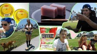 ベニスビーチで外国人がゼリーを食べ比べ!Foreign people trying Japanese jelly
