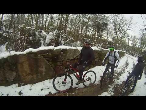 btt por Lamas d´Olo, com neve