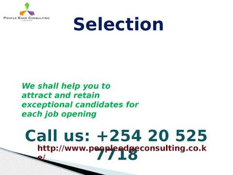 Human Resource Consultancy, Recruitment and Selection Service in Kenya