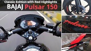 2019 Bajaj Pulsar 150 Neon | Red and Black | Price | Top Speed |  Ujjwal Saxena