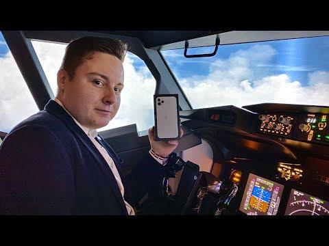 Распаковка IPhone 11 Pro Max за штурвалом Boeing 737 не удалась :(