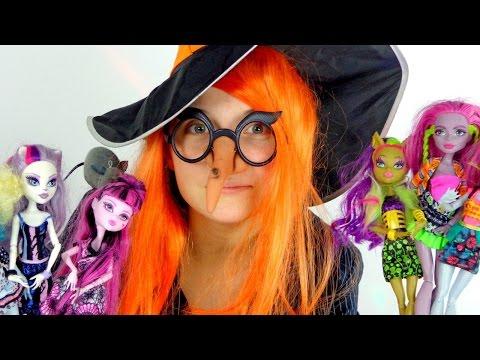 Видео для девочек.   Ведьмочка и фокус для Монстр Хай. Куклы Монстр Хай.