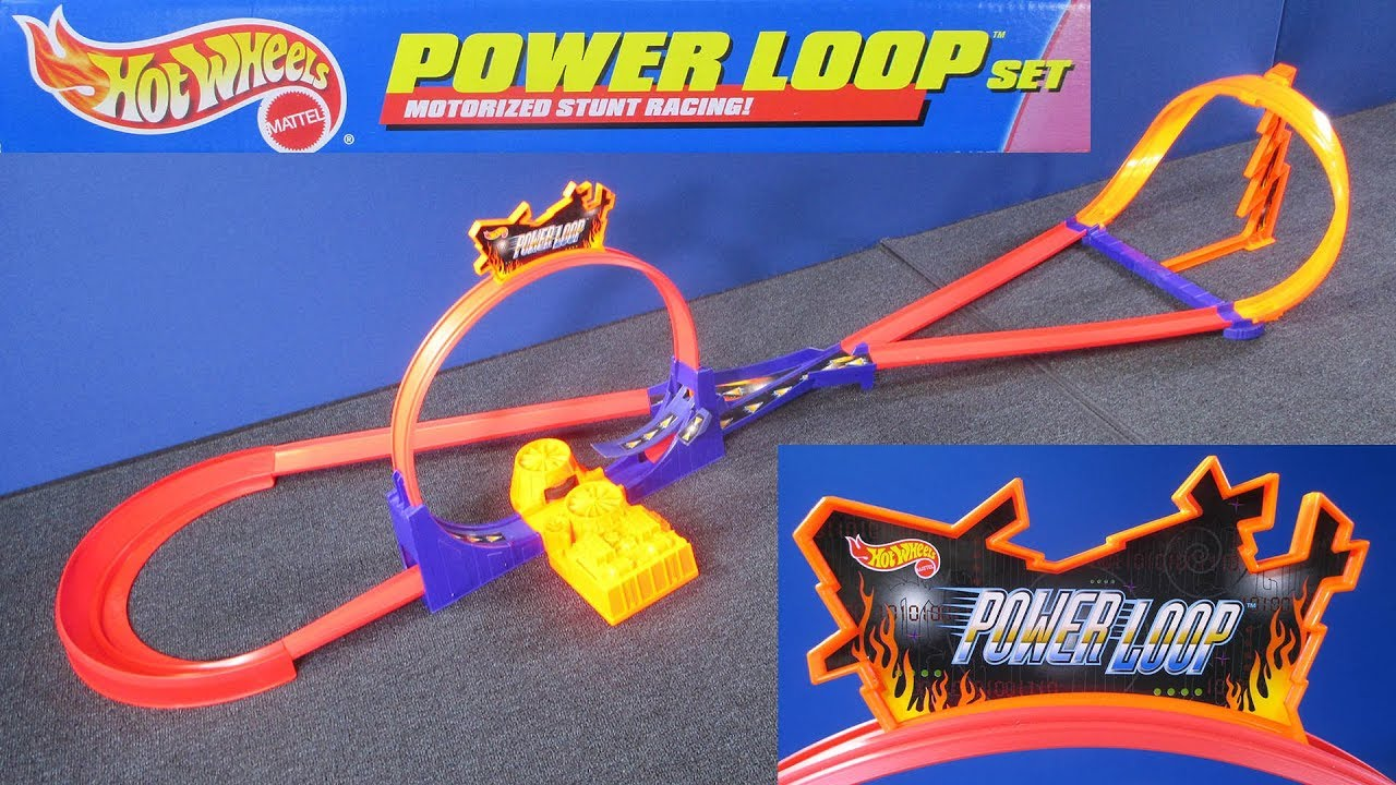 hot wheels power loop track set from 1994 racegrooves. Black Bedroom Furniture Sets. Home Design Ideas