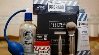 79. Моё комфортное бритьё. Rockwell razors 6s обзор, PRORASO, MUEHLE, Floïd Blue