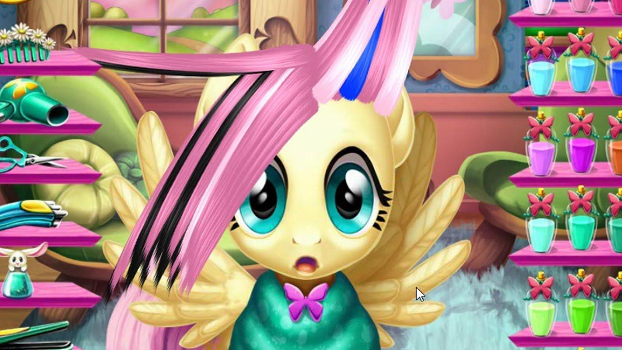 ПОНИ ИГРЫ. ФЛАТТЕРШАЙ НЕДОВОЛЬНА НОВОЙ ПРИЧЕСКОЙ. My little pony мультик игра