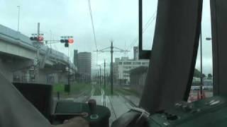 ≪前面展望≫広島電鉄宇品線広島港~海岸通り