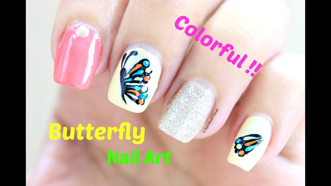 DIY Easy Butterfly Nail Art Design Tutorial