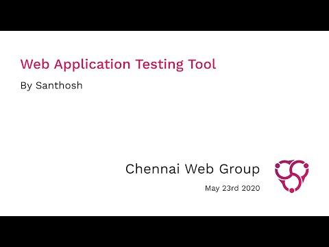 Web Application Testing Tool