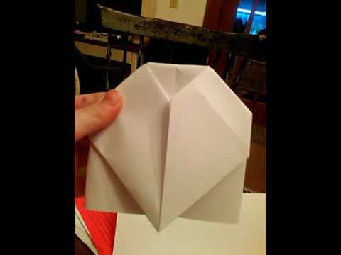 Instructions For A Origami Heart Place Card Youtube