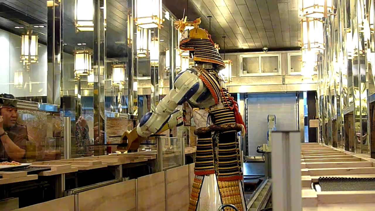hajime robot restaurant bangkok youtube. Black Bedroom Furniture Sets. Home Design Ideas