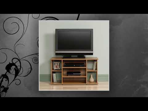 Sauder Beginnings Tv Stand Highland Oak Youtube