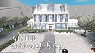 Roblox | Bloxburg | Winter Colonial Home