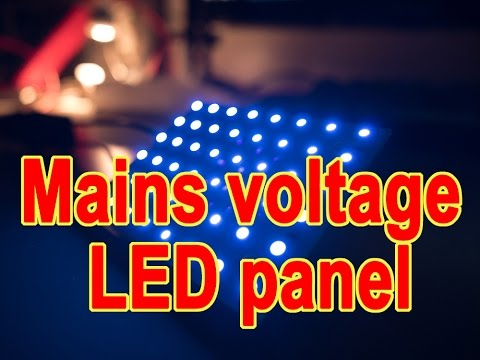 Direct mains voltage LED panel (UV)