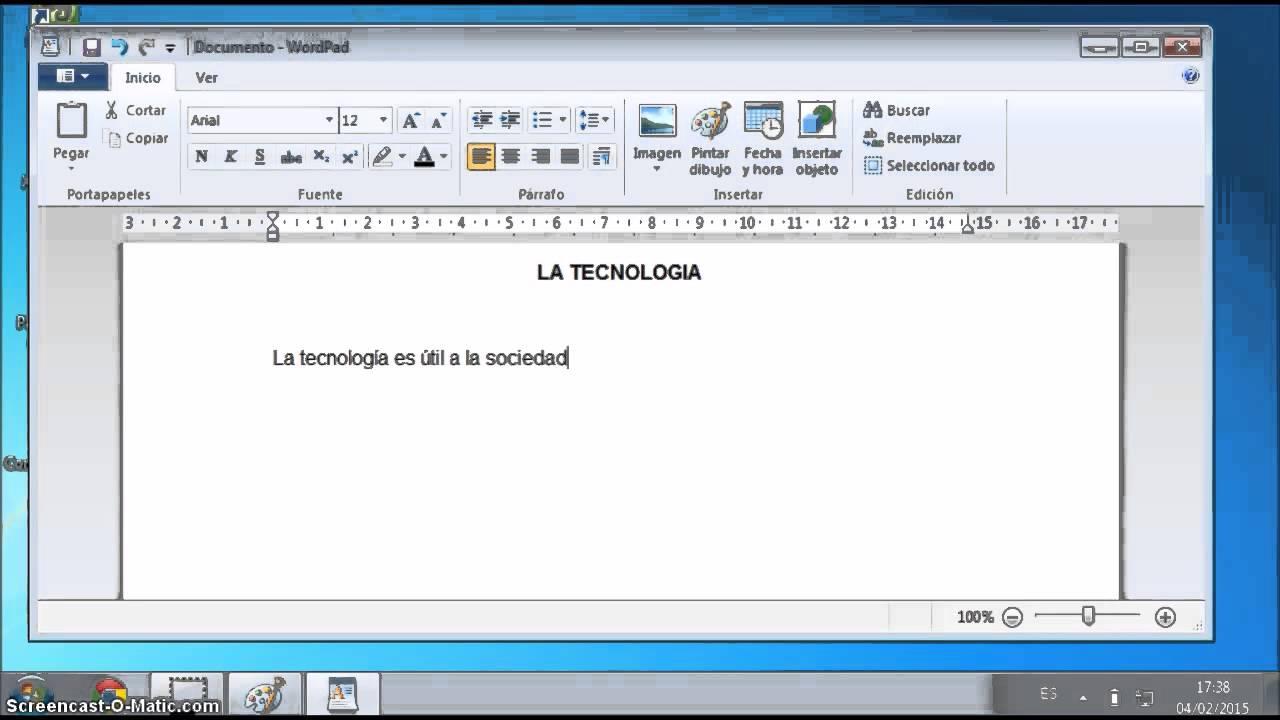 Trabajando con Wordpad y Paint - YouTube  Trabajando con ...