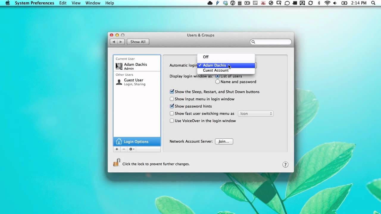 change login picture mac os x lion