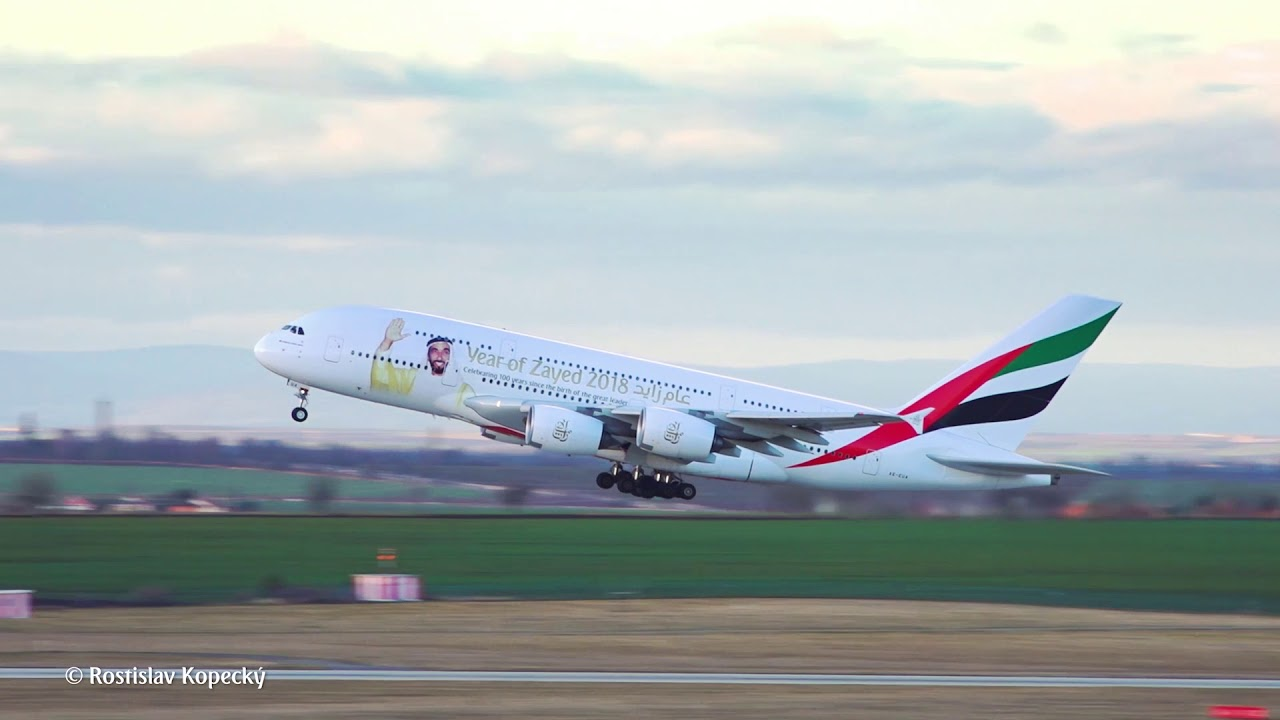 Emirates A380 Take-off   Emirates Airline