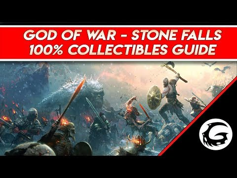 God of War - 100% Collectibles Stone Falls Guide Full Commentary | Gaming Instincts