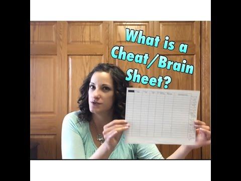 What is a Brain Sheet, Cheat Sheet, Nursing Report