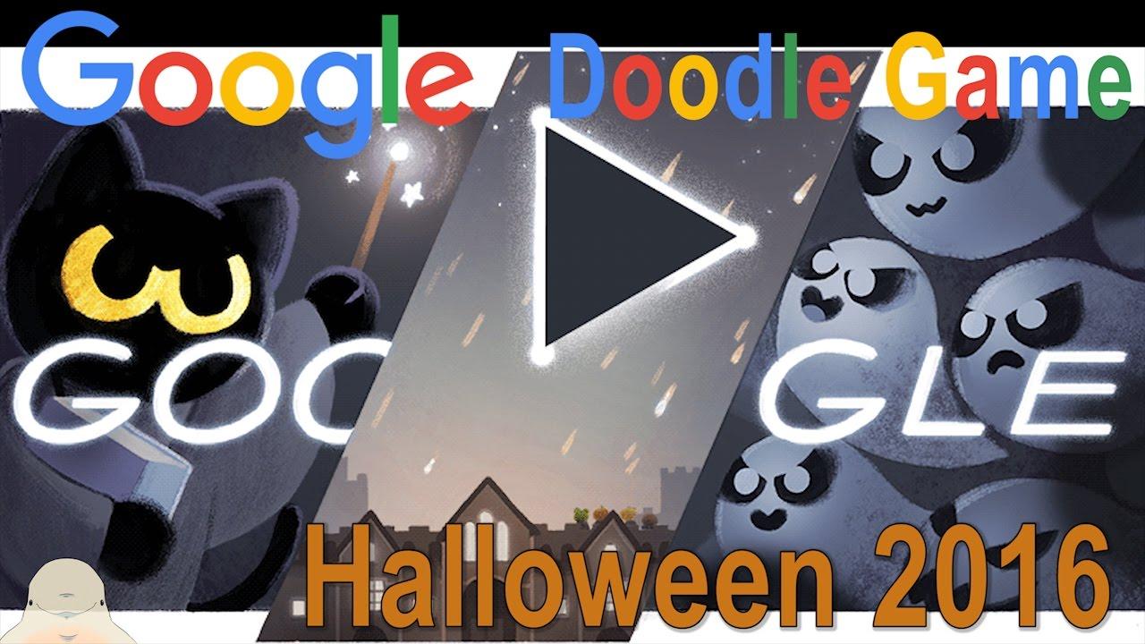 google doodle halloween 2016 high action gameplay youtube