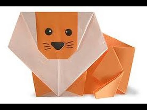 Origami Lion Simple