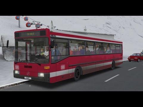 OMSI 2. Alpen Map, Route 100, Mercedes-Benz O407
