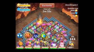 castle clash insane dungeon 2 9 with f2p heroes